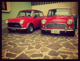 Old red Minis by dextermcq
