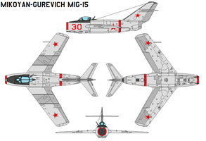 Mikoyan Gurevich MiG-15 Fagot by bagera3005