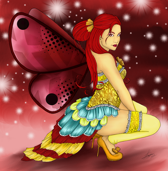 Fairy Lineart Coloring by Seraphim05