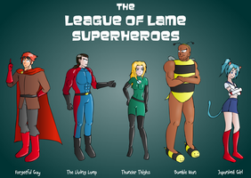 The League of Lame Superheroes by mandalorianjedi
