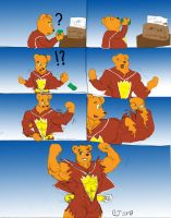 SuperTed Muscle Growth comic by CaseyLJones
