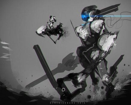 NASA Mech and Vehicle for exploration by benedickbana