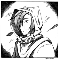 Practice With Cross-Hatching: Nile the Thief by Nylten