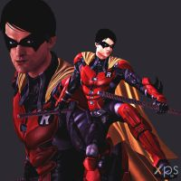 Batman Arkham Origins Robin by Sticklove