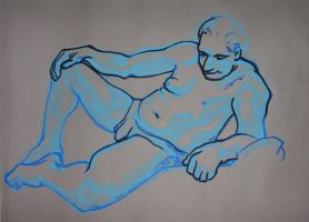Guy Sat Back life drawing by object000