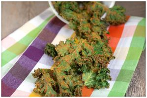 Spicy-Cheezy Kale Chips by duros
