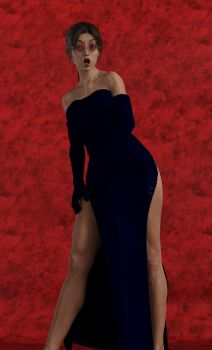 Lara Croft  Evening Dress 01 by Battleangel69