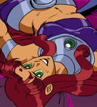 raven ans starfire in bed by biesiuss