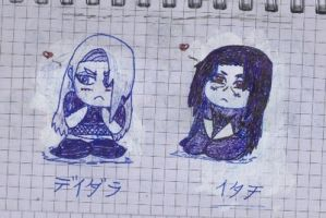 Chibi Deidara And Itachi by ChocoAni