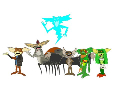 All the mutant Gremlins by theoctagon0