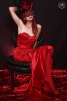 Lady In red III by imageis