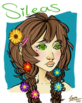 Sileas braided pigtails and flowers coloured by Deerly-loveable