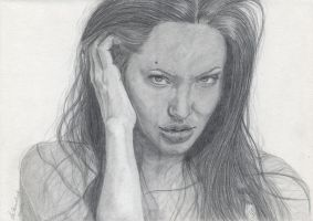 Angelina Jolie by WitchiArt