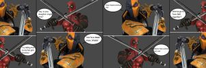 Injustice: Deathstroke vs Deadpool by xXTrettaXx