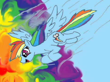 in to the Rainbow by roroponyart