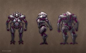 Robot with extra arms by PigeonKill