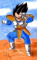 Vegeta - Fighting Stance by Jaylastar