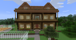 My Minecraft house by Volcanosf