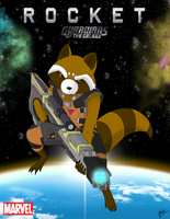 ROCKET RACCOON by EVANGELION-02