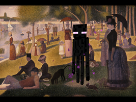 Enderman at the Park by Rthecreator