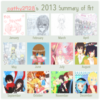-Bun's 2013 Art Summary- by bun-mi