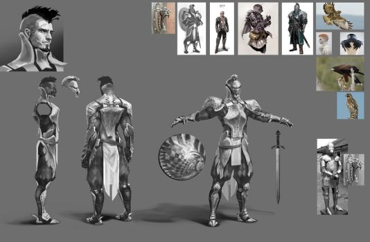 Falcon knight WIP -3 by AnDary
