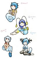 Water Type Gijinka Adoptables: OPEN by Prushia