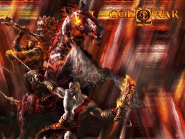 God of War 2 Wallpaper by Dash125