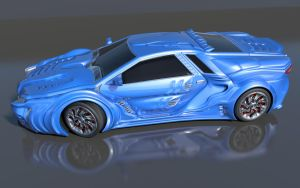 Storm GTR Concept Car Side by agwesh
