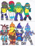 TMNT vs Street Sharks Changed clothes by AliceCherie