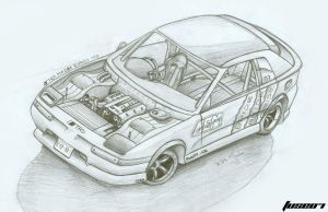 Mazda Eunos 100 Drifter by FuseEST