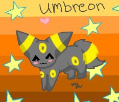 Starry Umbreon chibi by Wafflekitten1020