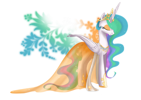 Princess of Equestria - Celestia by selinmarsou
