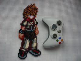 Kingdom Hearts 2 Custom Roxas Perler Bead Sprite by BigBossFF