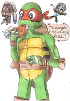 i love michelangelo fron TMNT by sheezy93
