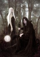 God of Darkness,Queen of Night by Esther-Sanz