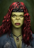 Orc Priestess by jucstice