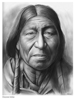 Cheyenne Indian by gregchapin