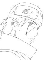 Lineart - Itachi Cry in Memory by ZulDzin