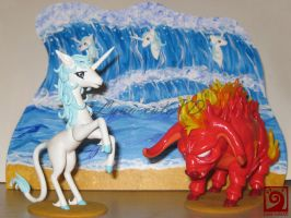 The last Unicorn Diorama 2 by Luna-cuteXD