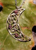 Amethyst, Peridot, Moonstone by MoonLitCreations