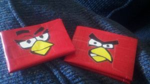 angry bird and female angry bird duct tape wallet by Fairygirl1031