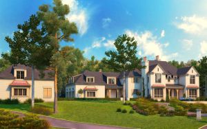 Home Exterior Rendering Addtion by zodevdesign