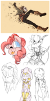 Sketch Dump July- August 2015 by KelCasual