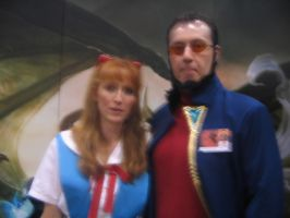 Asuka and Gendo by ray-dnt