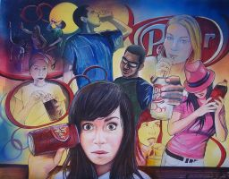 The Dr. Pepper Mural by DaoneDrawer
