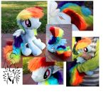 Rainbow Dash Plushie by Melanyte