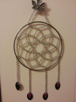 Pink and Green Dreamcatcher by Fatalshade