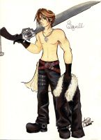 Squall Leonhart by Sapphire-Meline