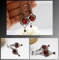 Tanwen- wire wrapped earrings by mea00